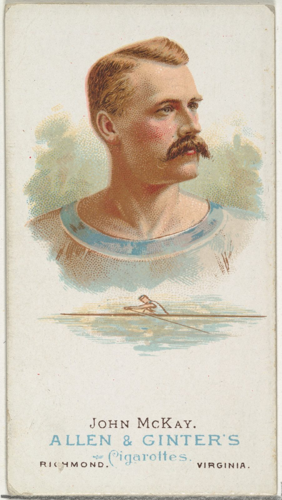John McKay, Oarsman, from World's Champions, Series 1 (N28) for Allen & Ginter Cigarettes