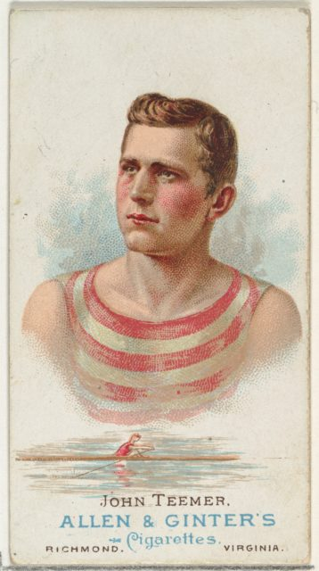 John Teemer, Oarsman, from World's Champions, Series 1 (N28) for Allen & Ginter Cigarettes