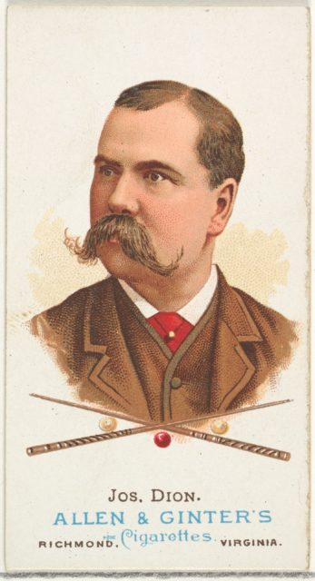 Joseph Dion, Billiard Player, from World's Champions, Series 1 (N28) for Allen & Ginter Cigarettes