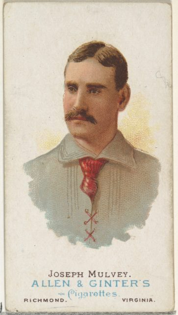 Joseph Mulvey, Baseball Player, from World's Champions, Series 1 (N28) for Allen & Ginter Cigarettes