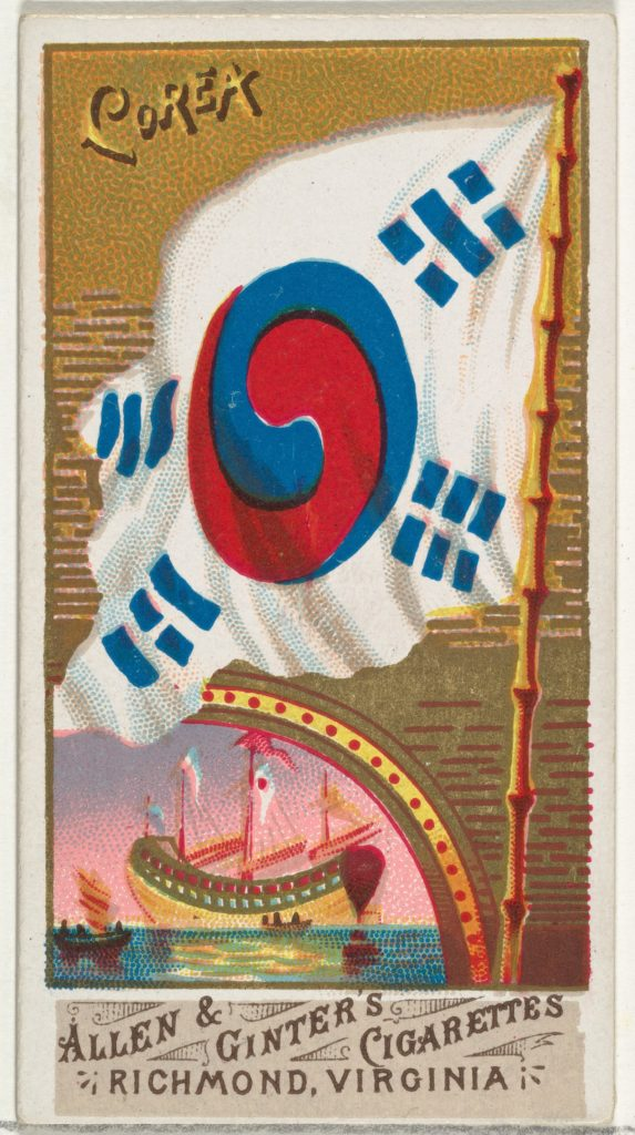 Korea, from Flags of All Nations, Series 1 (N9) for Allen & Ginter Cigarettes Brands