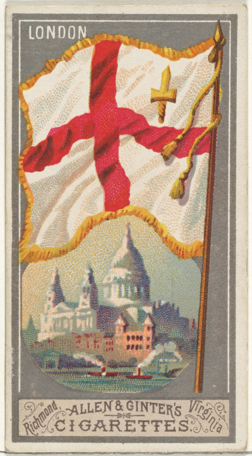 London, from the City Flags series (N6) for Allen & Ginter Cigarettes Brands
