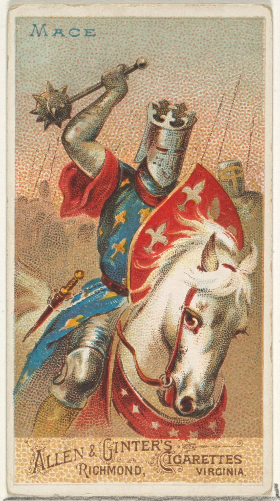 Mace, from the Arms of All Nations series (N3) for Allen & Ginter Cigarettes Brands