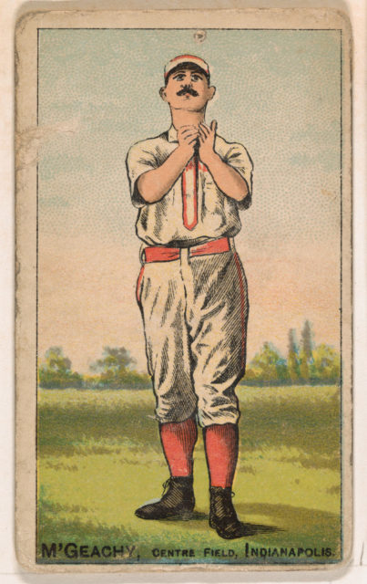 M'Geachy, Center Field, Indianapolis, from the Gold Coin series (N284) for Gold Coin Chewing Tobacco