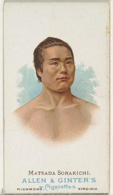 Matsuda Sorakichi, Wrestler, from World's Champions, Series 1 (N28) for Allen & Ginter Cigarettes