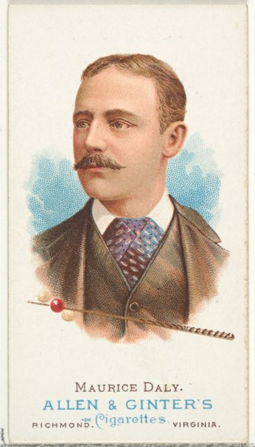 Maurice Daly, Billiard Player, from World's Champions, Series 1 (N28) for Allen & Ginter Cigarettes