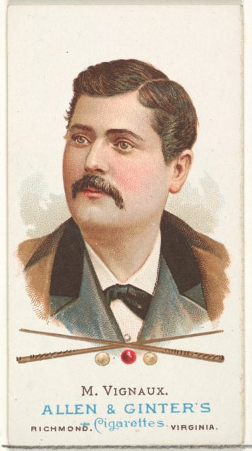 Maurice Vignaux, Billiard Player, from World's Champions, Series 1 (N28) for Allen & Ginter Cigarettes