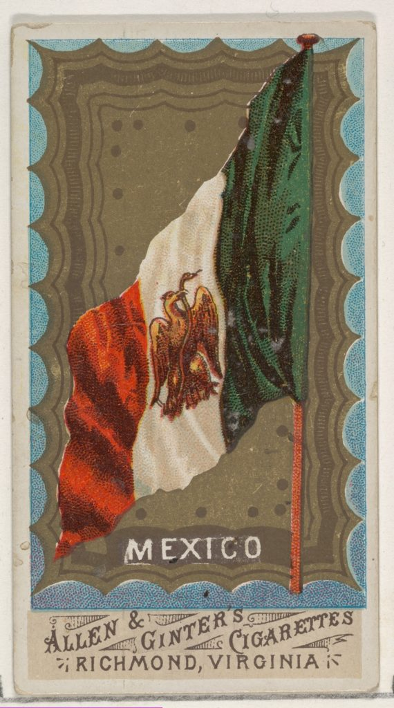 Mexico, from Flags of All Nations, Series 1 (N9) for Allen & Ginter Cigarettes Brands