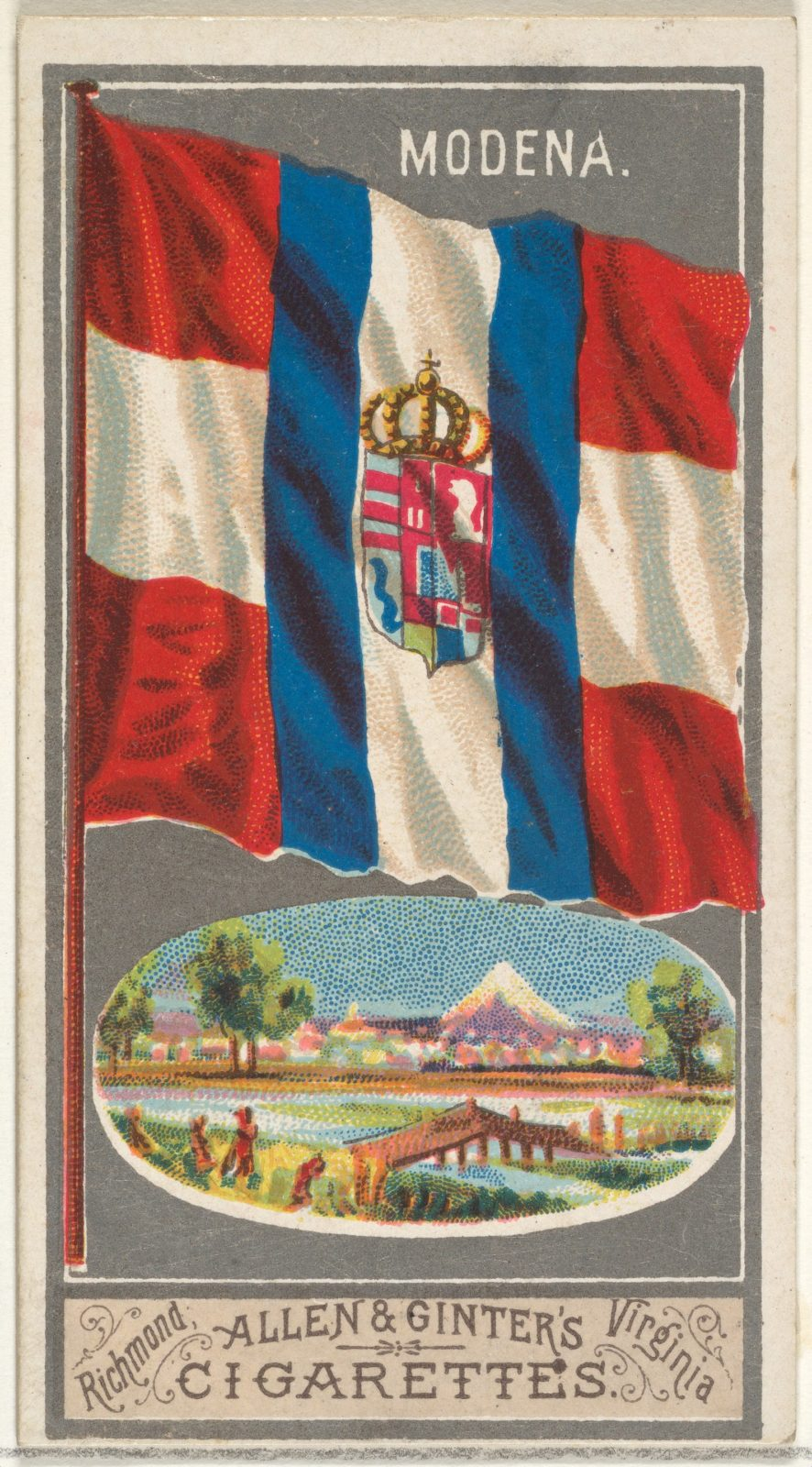 Modena, from the City Flags series (N6) for Allen & Ginter Cigarettes Brands