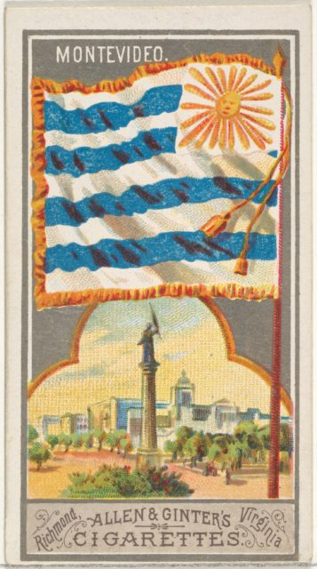 Montevideo, from the City Flags series (N6) for Allen & Ginter Cigarettes Brands
