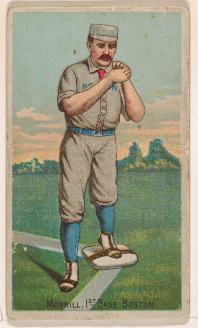 Morrill, 1st Base, Boston, from the Gold Coin series (N284) for Gold Coin Chewing Tobacco