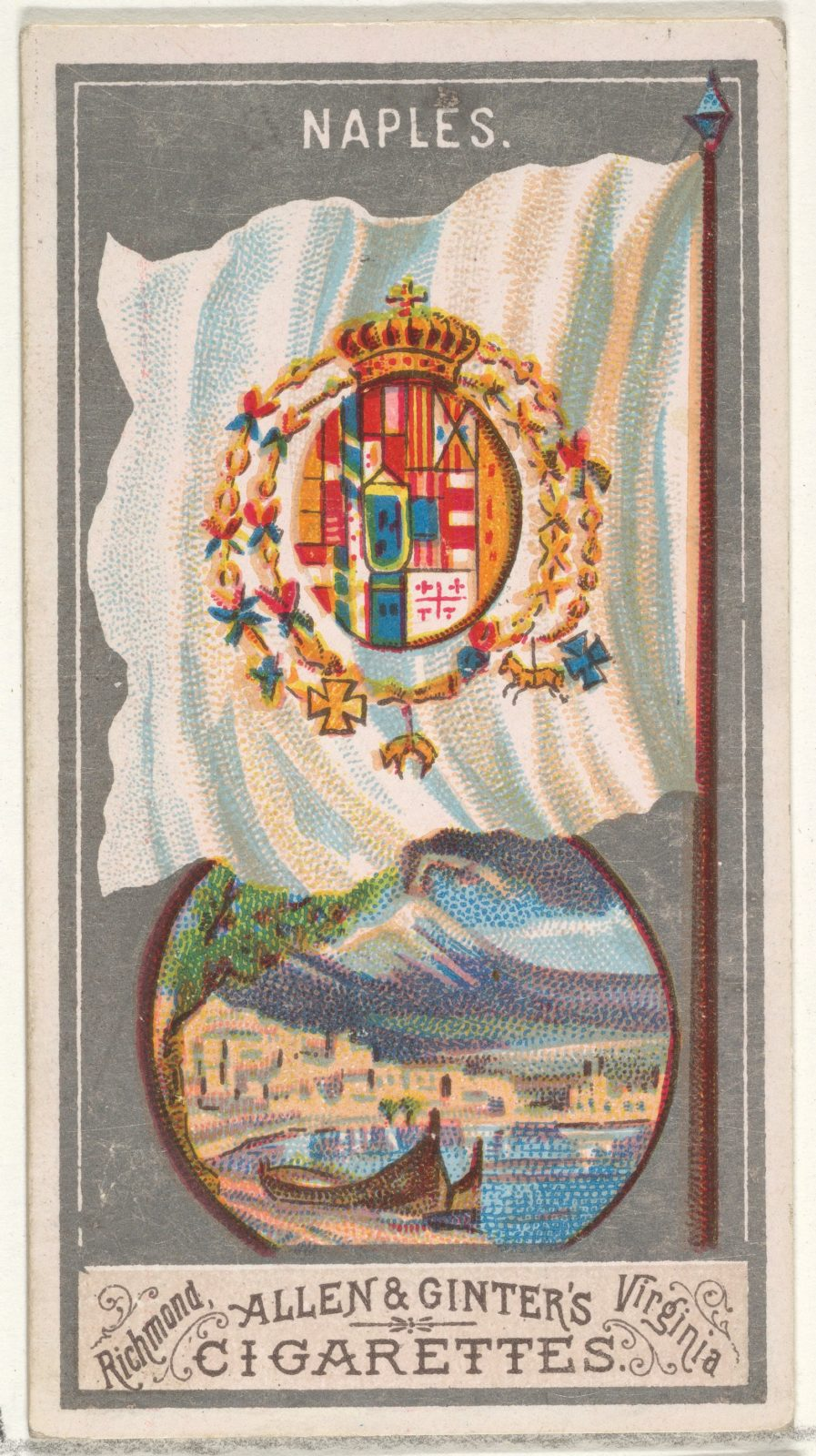 Naples, from the City Flags series (N6) for Allen & Ginter Cigarettes Brands