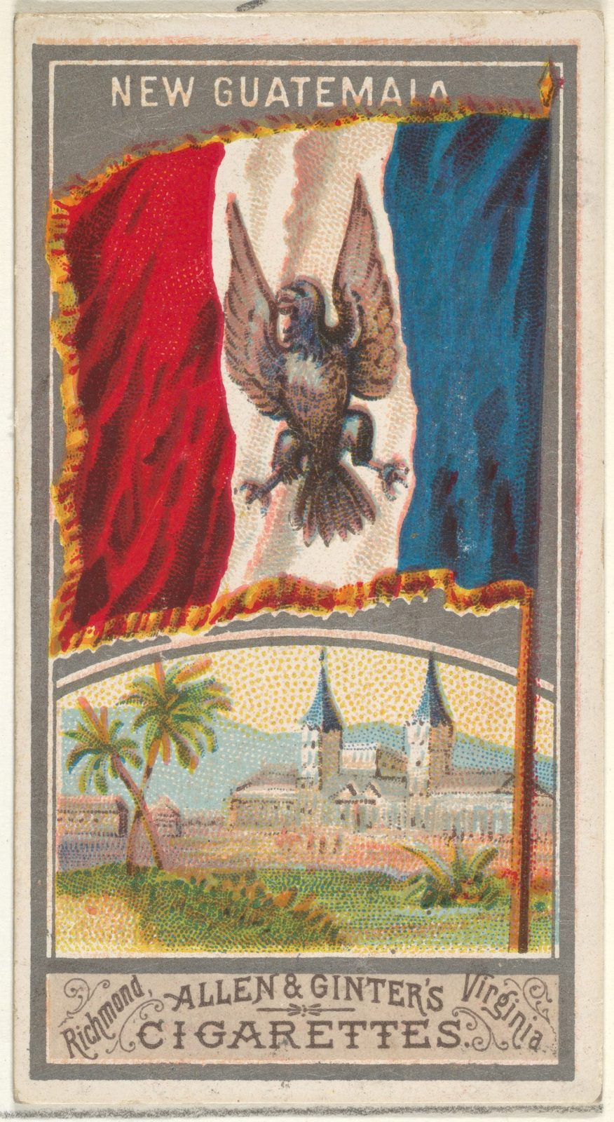 New Guatemala, from the City Flags series (N6) for Allen & Ginter Cigarettes Brands