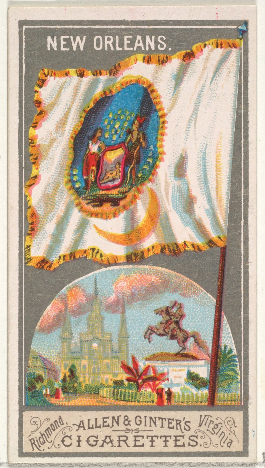 New Orleans, from the City Flags series (N6) for Allen & Ginter Cigarettes Brands
