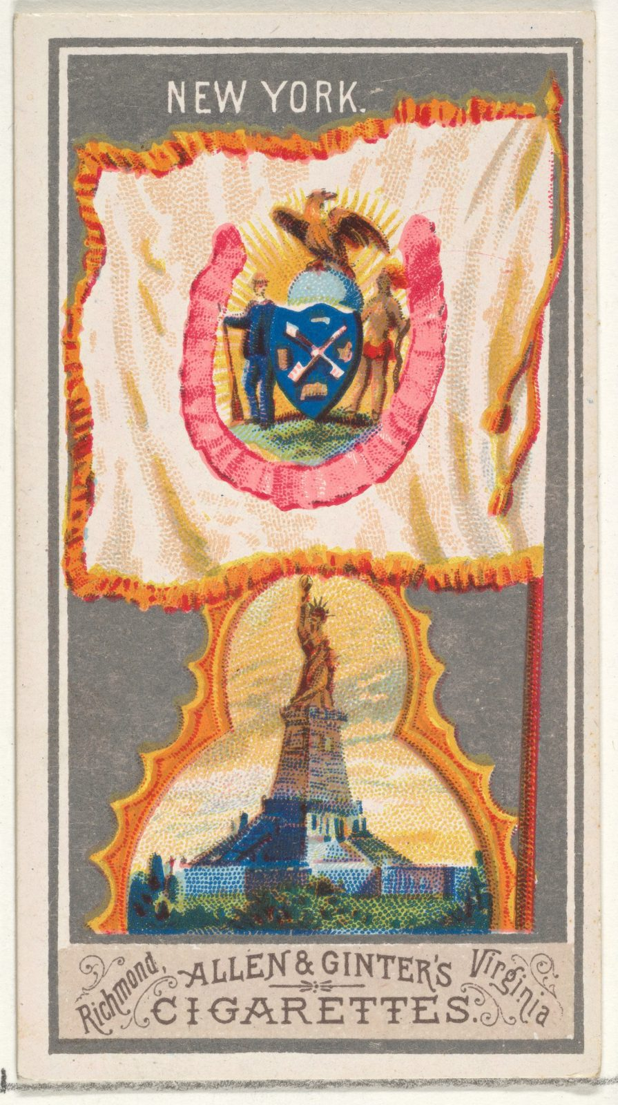 New York, from the City Flags series (N6) for Allen & Ginter Cigarettes Brands