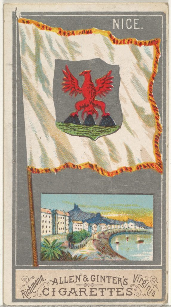 Nice, from the City Flags series (N6) for Allen & Ginter Cigarettes Brands