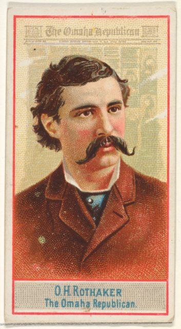 O.H. Rothaker, The Omaha Republican, from the American Editors series (N1) for Allen & Ginter Cigarettes Brands
