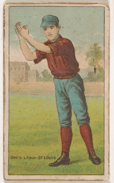 Oneil, Left Field, St. Louis, from the Gold Coin series (N284) for Gold Coin Chewing Tobacco