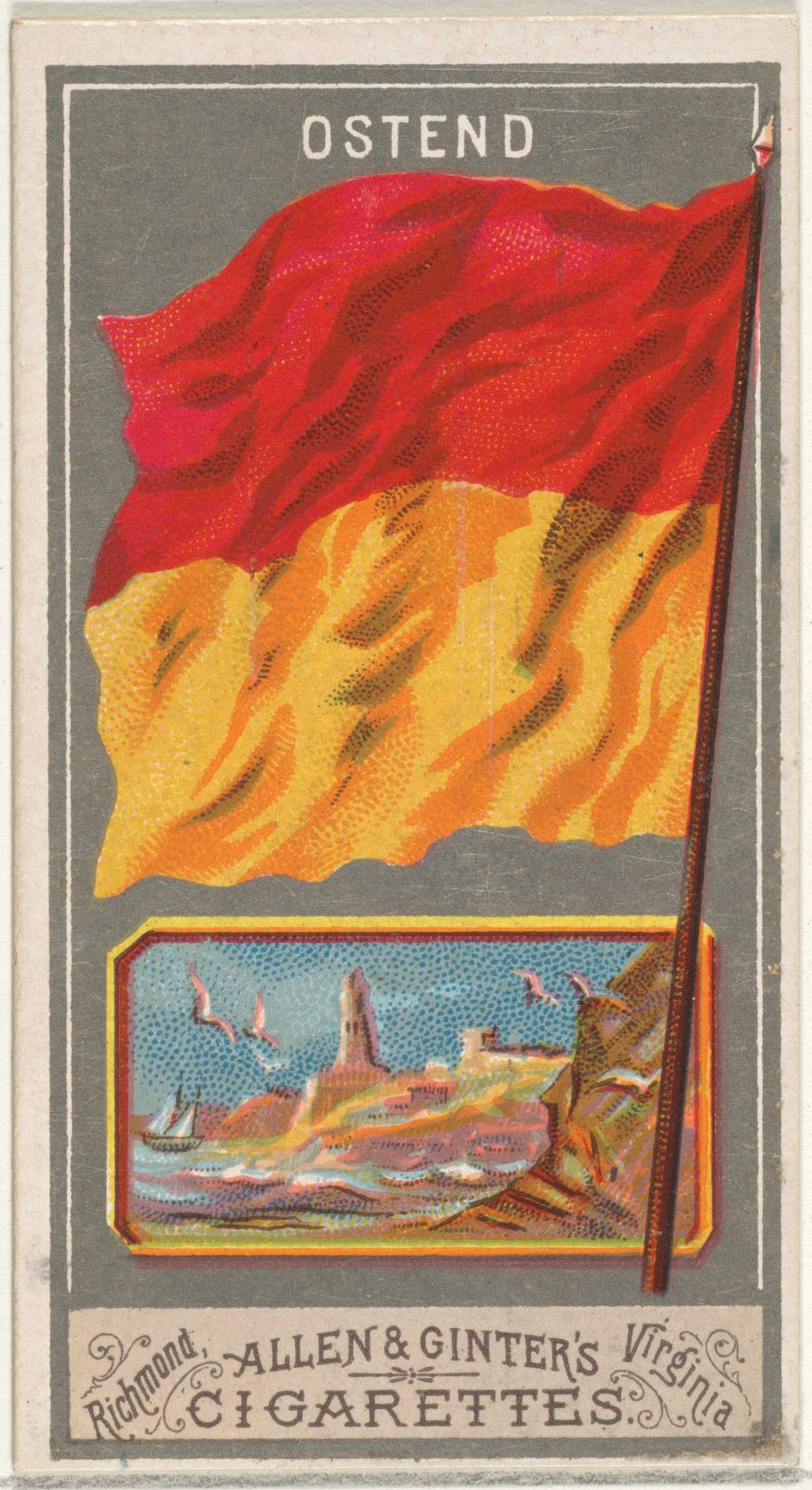 Ostend, from the City Flags series (N6) for Allen & Ginter Cigarettes Brands