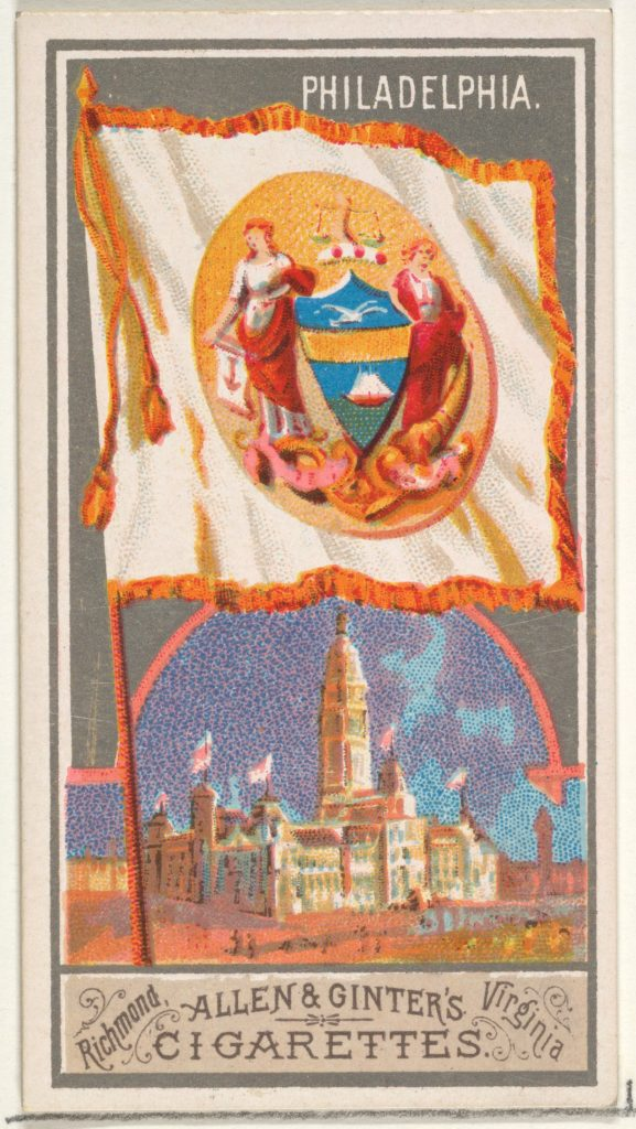 Philadelphia, from the City Flags series (N6) for Allen & Ginter Cigarettes Brands