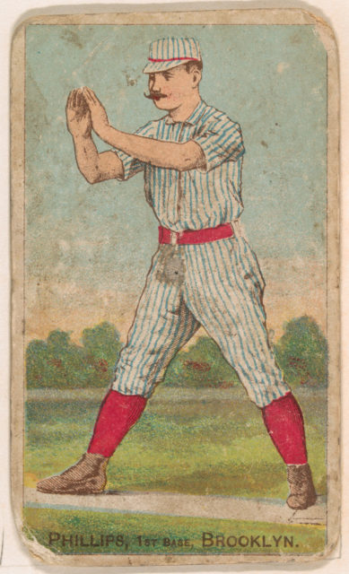 Phillips, 1st Base, Brooklyn, from the Gold Coin series (N284) for Gold Coin Chewing Tobacco