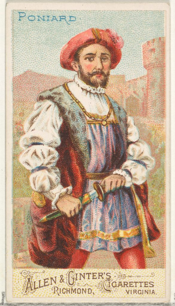 Poniard, from the Arms of All Nations series (N3) for Allen & Ginter Cigarettes Brands