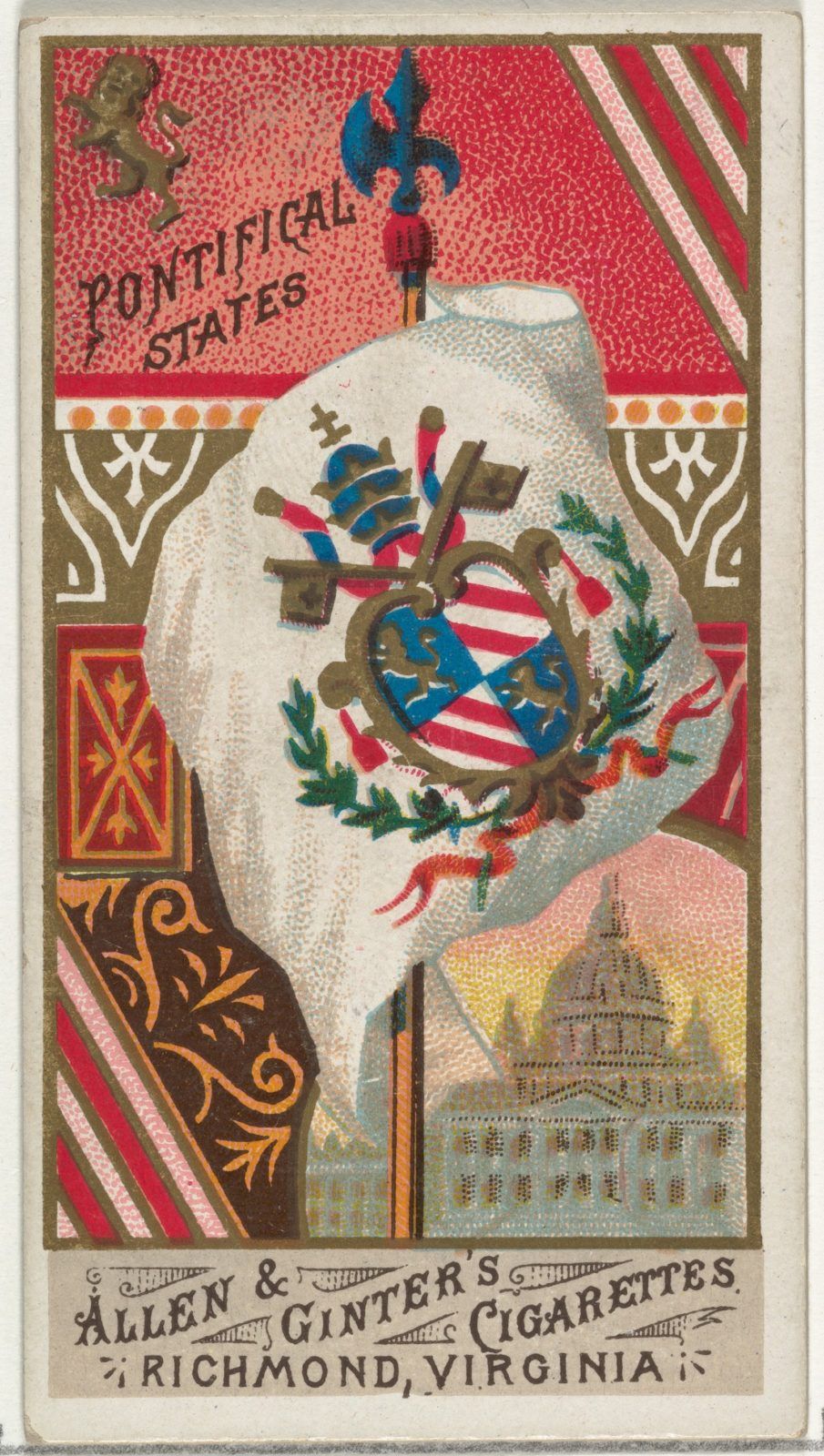 Pontifical States, from Flags of All Nations, Series 1 (N9) for Allen & Ginter Cigarettes Brands