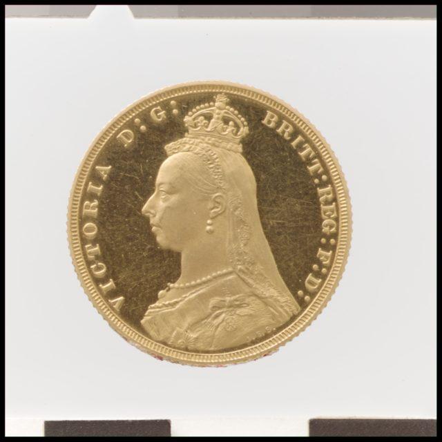 """Queen Victoria """"Jubilee Head"""" proof sovereign"""