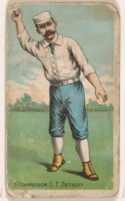 Richardson, Left Field, Detroit, from the Gold Coin series (N284) for Gold Coin Chewing Tobacco