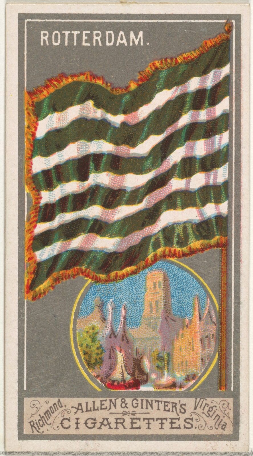 Rotterdam, from the City Flags series (N6) for Allen & Ginter Cigarettes Brands