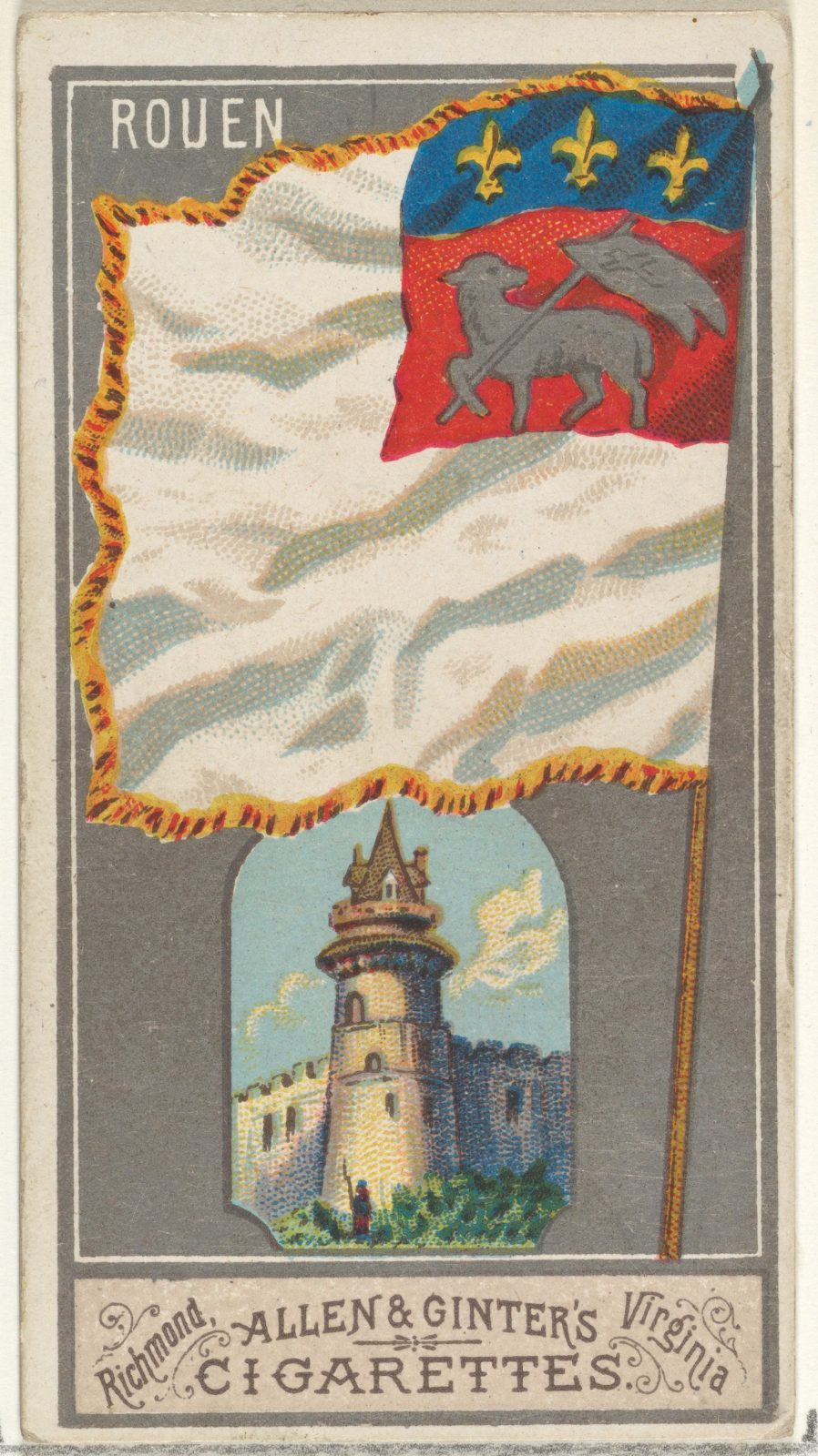 Rouen, from the City Flags series (N6) for Allen & Ginter Cigarettes Brands