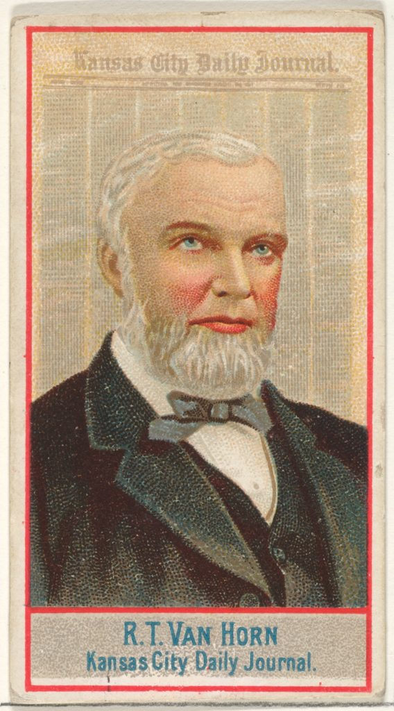 R.T. Van Horn, Kansas City Daily Journal, from the American Editors series (N1) for Allen & Ginter Cigarettes Brands