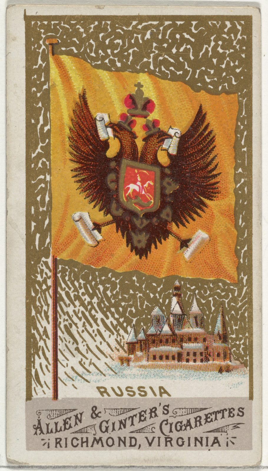 Russia, from Flags of All Nations, Series 1 (N9) for Allen & Ginter Cigarettes Brands