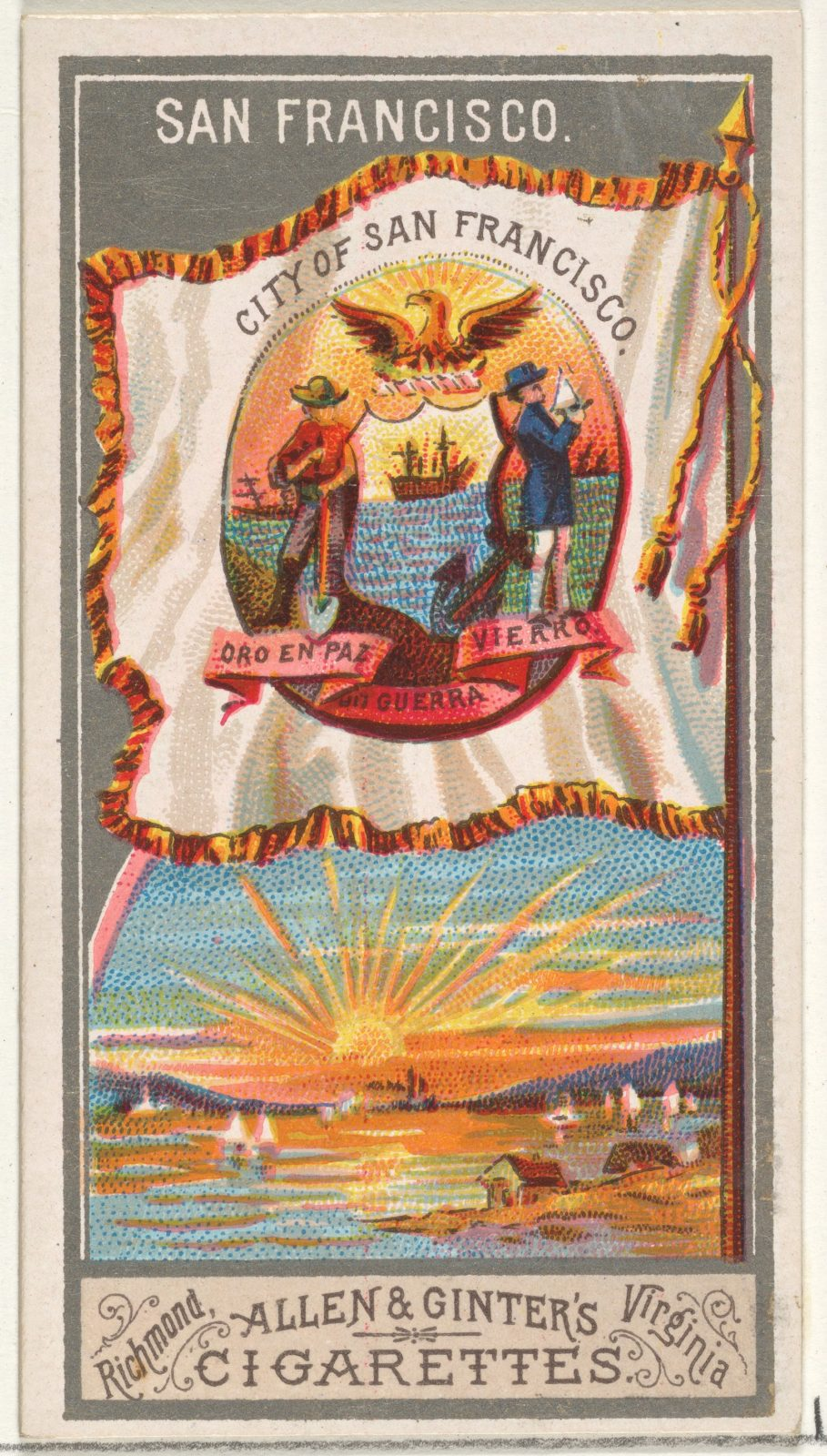 San Francisco, from the City Flags series (N6) for Allen & Ginter Cigarettes Brands