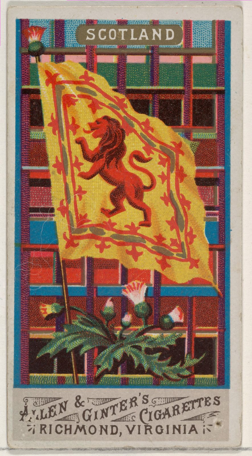 Scotland, from Flags of All Nations, Series 1 (N9) for Allen & Ginter Cigarettes Brands