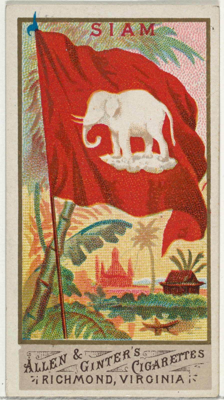 Siam, from Flags of All Nations, Series 1 (N9) for Allen & Ginter Cigarettes Brands