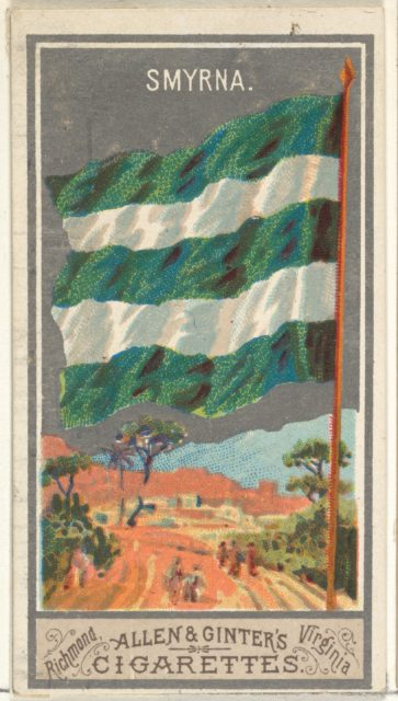 Smyrna, from the City Flags series (N6) for Allen & Ginter Cigarettes Brands