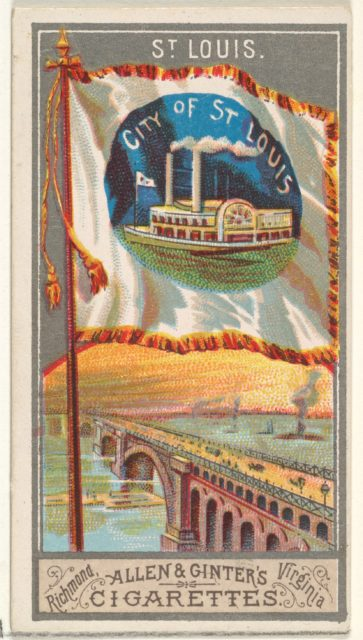 St. Louis, from the City Flags series (N6) for Allen & Ginter Cigarettes Brands