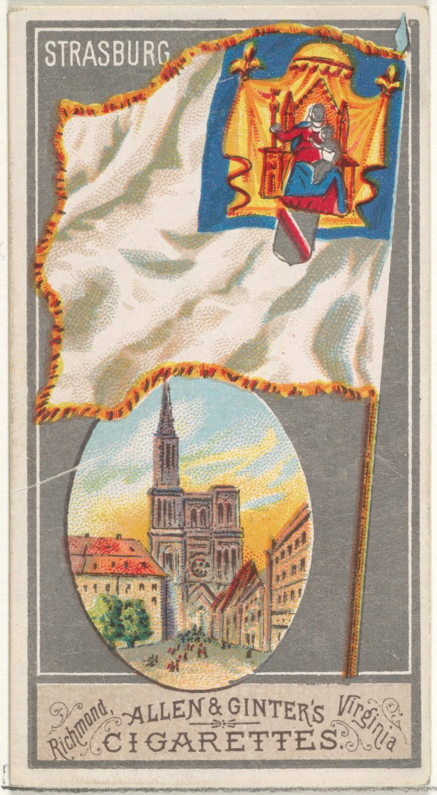 Strasburg, from the City Flags series (N6) for Allen & Ginter Cigarettes Brands
