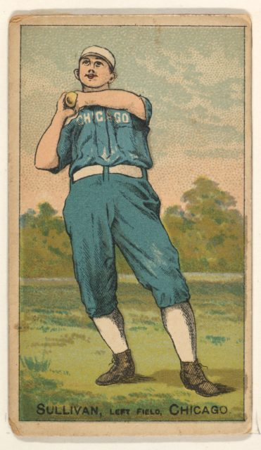 Sullivan, Left Field, Chicago, from the Gold Coin series (N284) for Gold Coin Chewing Tobacco
