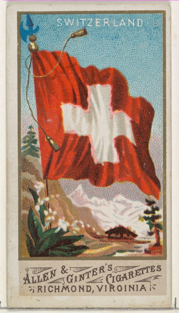 Switzerland, from Flags of All Nations, Series 1 (N9) for Allen & Ginter Cigarettes Brands