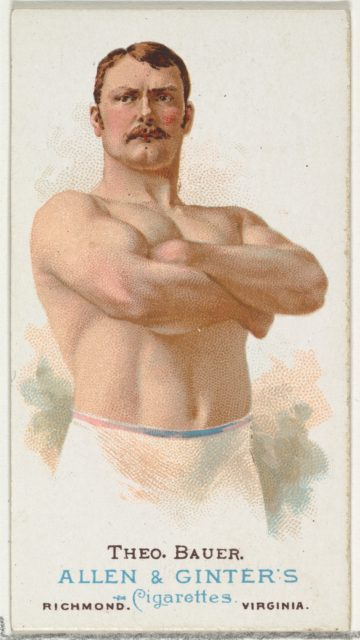 Theodore Bauer, Wrestler, from World's Champions, Series 1 (N28) for Allen & Ginter Cigarettes