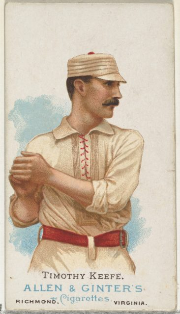 Timothy Keefe, Baseball Player, from World's Champions, Series 1 (N28) for Allen & Ginter Cigarettes