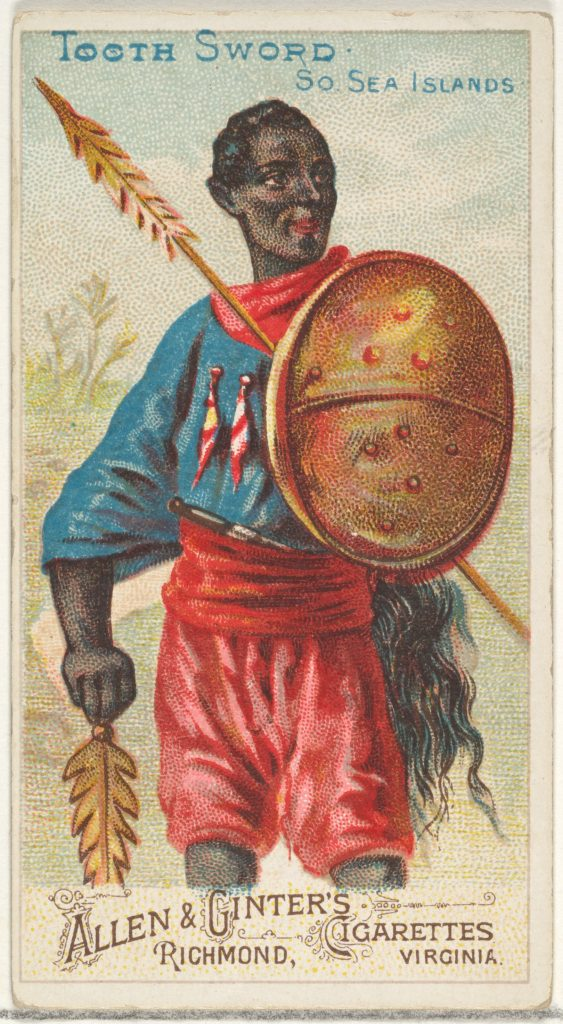 Tooth Sword, South Sea Islands, from the Arms of All Nations series (N3) for Allen & Ginter Cigarettes Brands