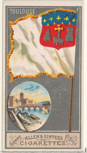 Toulouse, from the City Flags series (N6) for Allen & Ginter Cigarettes Brands