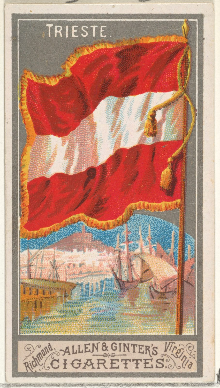 Trieste, from the City Flags series (N6) for Allen & Ginter Cigarettes Brands