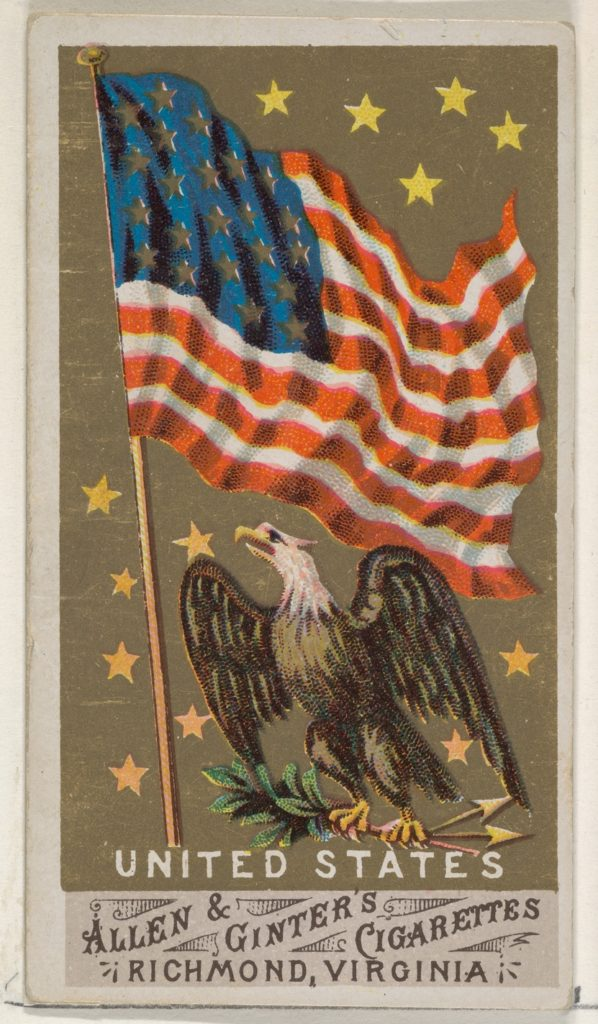 United States, from Flags of All Nations, Series 1 (N9) for Allen & Ginter Cigarettes Brands