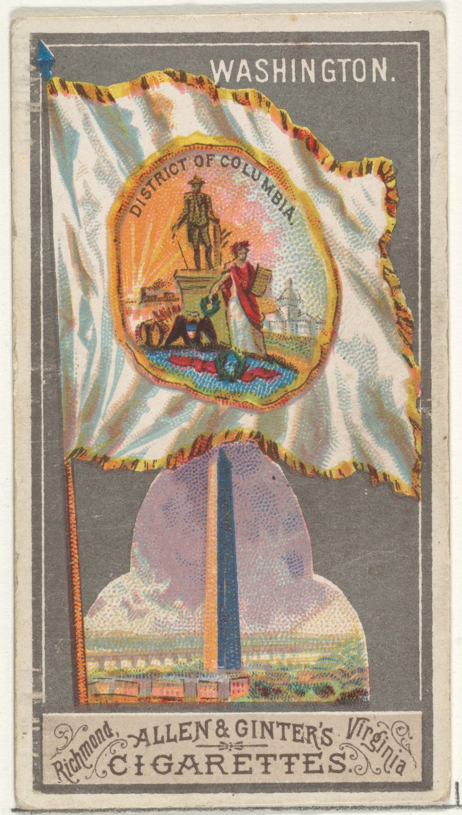 Washington, from the City Flags series (N6) for Allen & Ginter Cigarettes Brands