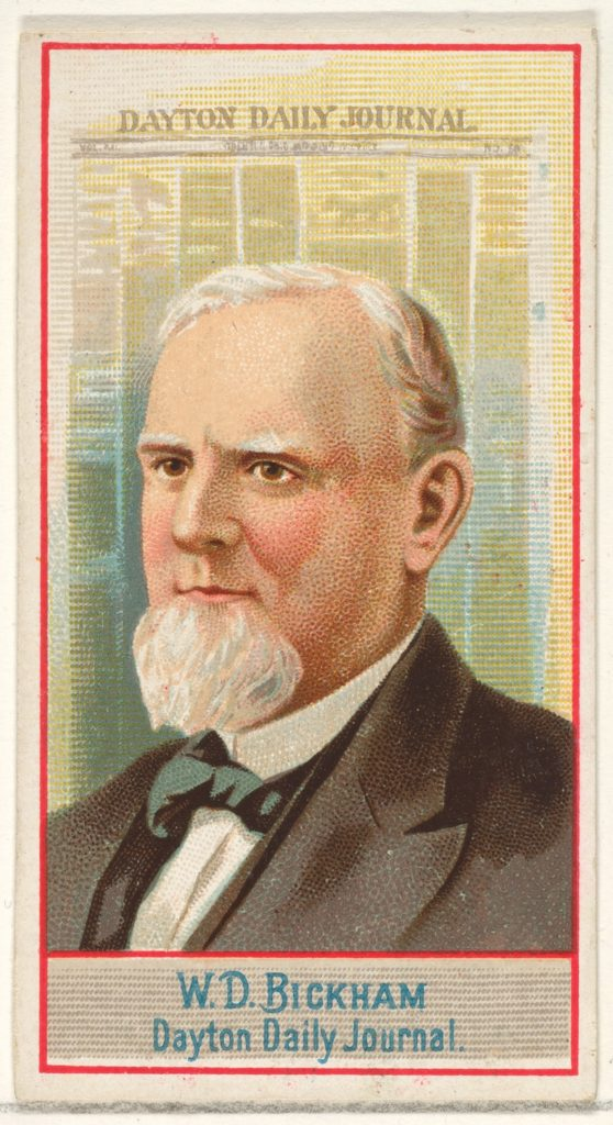 W.D. Bickham, Dayton Daily Journal, from the American Editors series (N1) for Allen & Ginter Cigarettes Brands