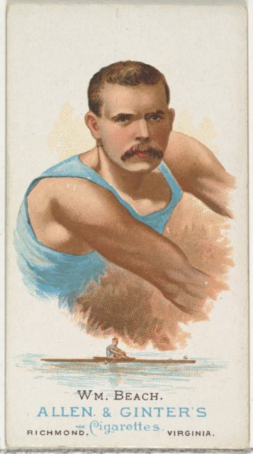 William Beach, Oarsman, from World's Champions, Series 1 (N28) for Allen & Ginter Cigarettes
